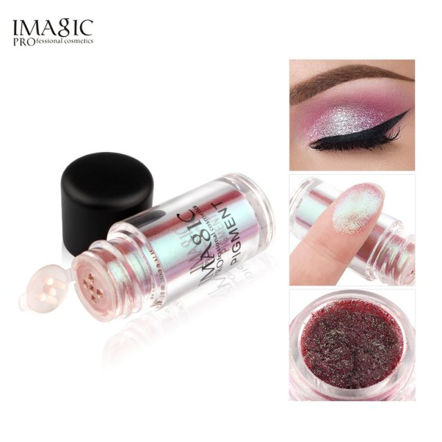 IMAGIC Makeup Eyeshadow Loose Pigment Shadows Eye Mineral Powder Metallic discoloration Loose Glitter Eyeshadow Color Makeup