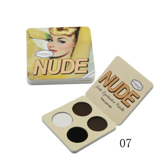 Brand Makeup Matte Eye Shadow Palette 4 Color The Nude Balm Minerals Powder Pigments Cosmetics Glitter Eyeshadow Make Up Palette