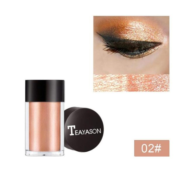 Mineral Eye Gold Red Metallic Loose Glitter