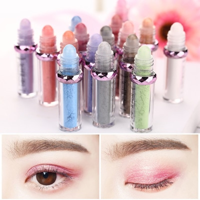 16 Color Glitter Ball Roller Eyeshadow Long Lasting Shimmer Mineral Eye Shadow Makeup Eyes Cosmetic 1 Piece