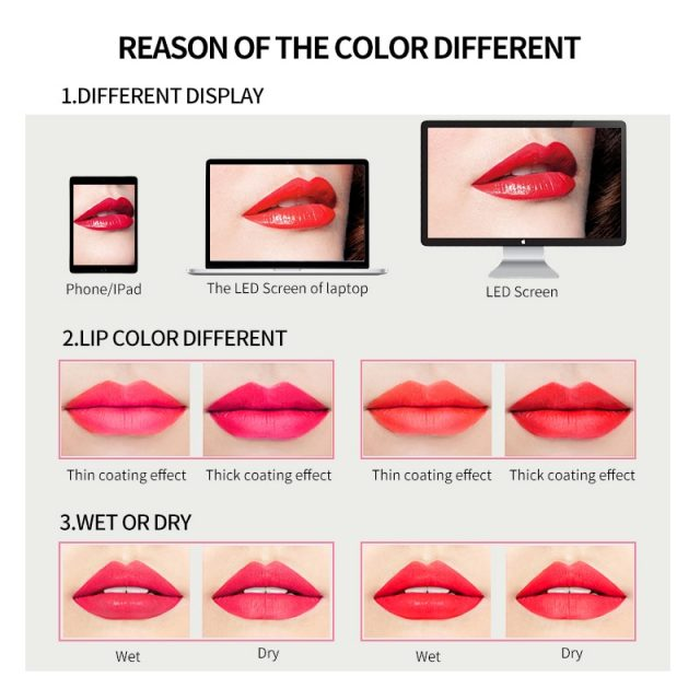 FOCALLURE Matte Lipstick Makeup Chic Sexy Beauty Waterproof Lipstick Pen Waterproof Easy To Wear Makeup Lip gloss Lips Cosmetic