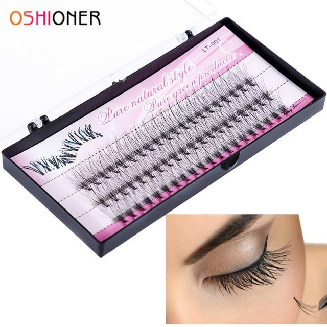 Natural Fake Eye Lashes – 60pcs