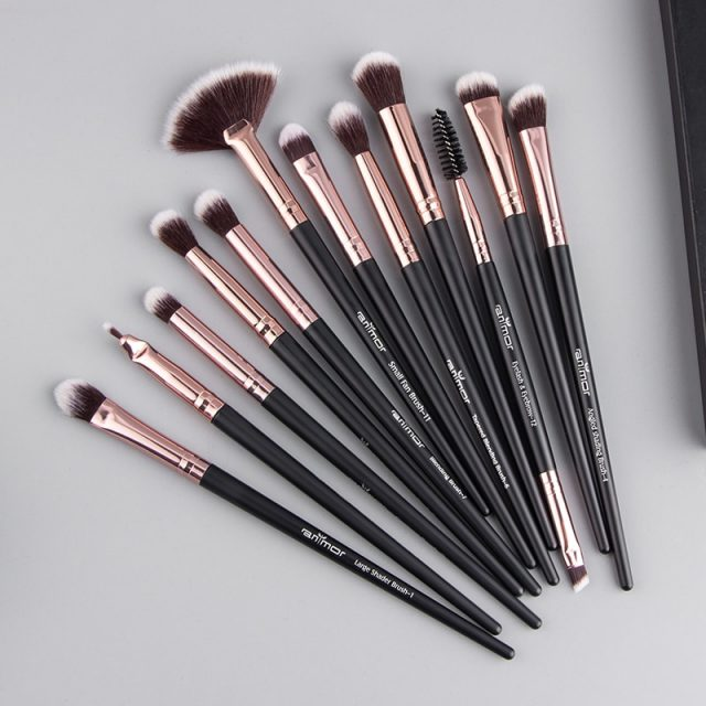 12 Piece Synthetic Makeup Brush Set